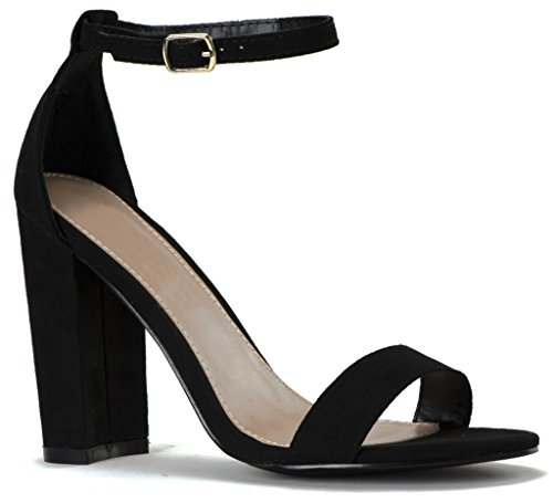 Womens Chunky Covered Block Sandals