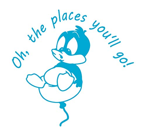 Ice Crib Bedding (BellaCross Unofficial Baby Looney Tunes Wall Decal: Oh, The Places You'll Go - Made in The USA from Vinyl! This is One of Our Most Popular Wall Decals for Kid's Rooms! - ICE Blue)