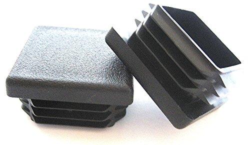 Tubing 14 Gauge Aluminum (100 Pack: 1 1/4 inch Square Plastic Plug, Tubing End Cap, Durable Chair Glide)