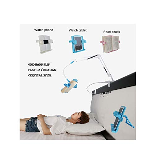 Desktop Bedside Book Stand Bed Reading Shelf Adjustable Book Holder Suitable for Mobile Tablet Ipad (Color : White)
