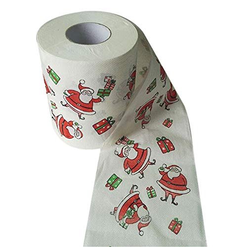 Price comparison product image Toilet Tissue Christmas Santa Claus Funny Printing Design Eco Friendly Bathroom Toilet Tissue (Mulitcolor)