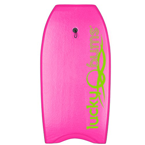 lucky-bums-body-board-with-eps-core-slick-bottom-and-leash-pink-37-inches