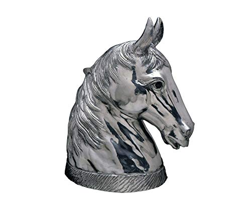 (Arthur Court Signature Aluminum Horse Head Figure Ice/Wine / Champagne Bucket/Punch Server - 18