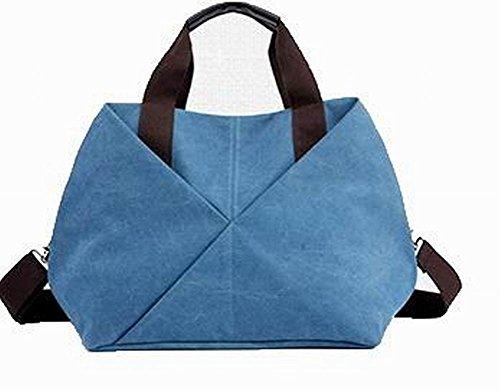 VogueZone009 Mujeres Moda Casual Cremalleras Bolsas de mano Bolsos cruzados Azul