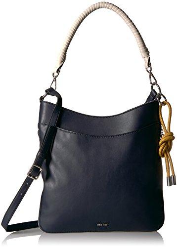 Nine West Lewwy Shoulder Bag, French Navy/Turmeric/Milk