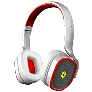 Ferrari by Logic3 Scuderia R200 - Auriculares (Binaurale, Color blanco, Diadema, Alámbrico, 1.5 %, Apple)