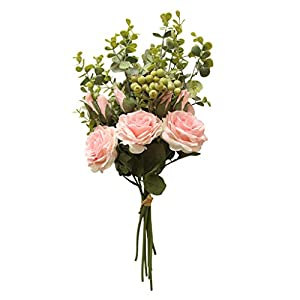 Range Rose Hydrangea Flowers Bouquet Bunch Home Wedding Party Gift Deco Mother's Day gift0418#009 115