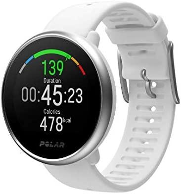 Polar Ignite – Reloj de fitness con GPS integrado, pulsómetro de muñeca, guías de entrenamiento - hombre/mujer - blanco S/M