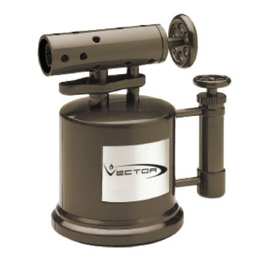 Vector Mega Pump Table Top Cigar Torch Lighter Chrome Satin MEGAPUMP by Vector