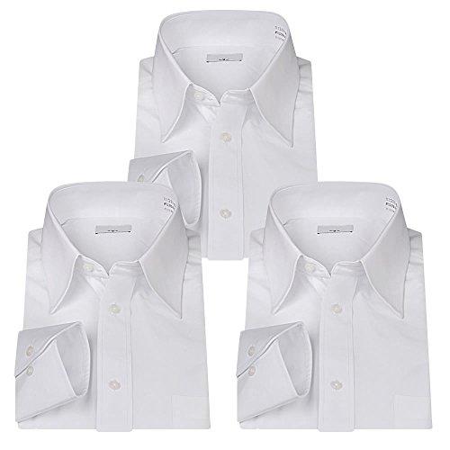 戻す許される形(ビジネススタイル アルフ)ビジネススタイル alfu 形態安定 長袖 ワイシャツ Yシャツ 3枚セット 白 ホワイト【礼服】【ドレスシャツ】/at01al-3set