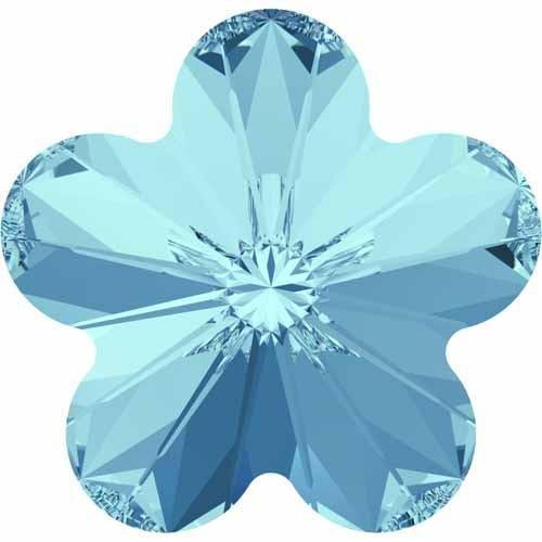 4744 Swarovski Fancy Stones Flower | Aquamarine | 6mm - Pack of 720 (Wholesale) | Small & Wholesale Packs | Free Delivery by Swarovski