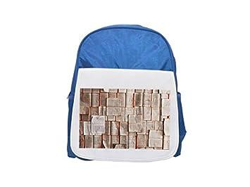 Libros, páginas, historia, notas, mochila estampada azul infantil, bonitas mochilas,