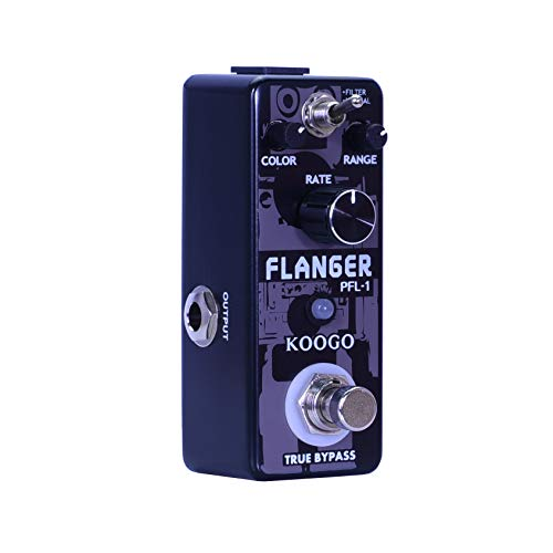 Koogo Guitar Flanger Vintage Pedal Classic Analog Effect Pedals Filter & Normal Best Retro Sound Effector
