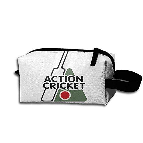 Clash Durable Zipper Wallet Makeup Handbag With Wrist Band Action Cricket Toiletry Bag ()