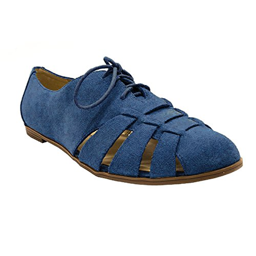 Isaac Mizrahi Live! Women's Farwin Dark Blue Suede Shoes-Navy-9.5 from Isaac Mizrahi Live!