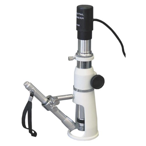 AmScope H100-E1 Digital Handheld Stand Measuring Microscope,