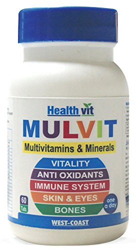 HealthVit Mulvit A To Z Multivitamins and Minerals 60 Table