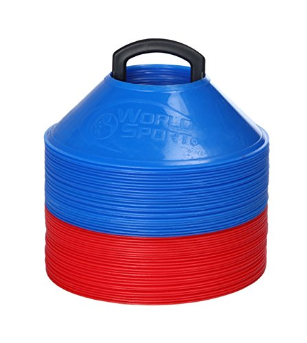World Sport MINI Disc Cones 25 Red / 25 Blue (50 Pack) by World Sport