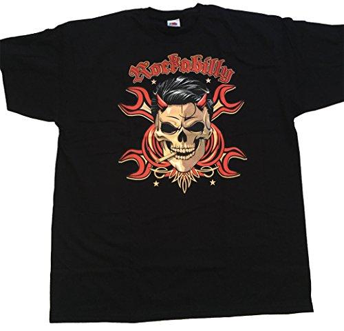 """Rockabilly T Shirt Orginal USA Motiv """"Rockabilly"""" Fun Rat Motorrad Hotrod Biker Rock'n Roll"""