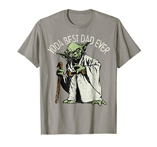 Star Wars Yoda Best Dad Ever Graphic T-Shirt C1