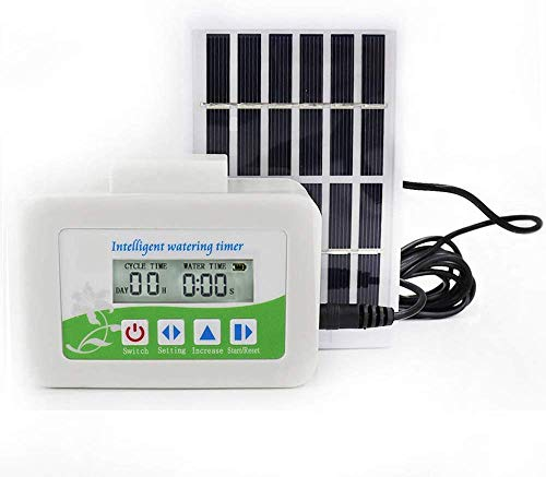 Upgrade Smart Water Pump Solar Garden Automatic Watering Device Outdoor Plants Self Drip Irrigation Solar Energy Charging Timer System Potted Plant Drip Irrigation for Potted Plants Flower Vegetables