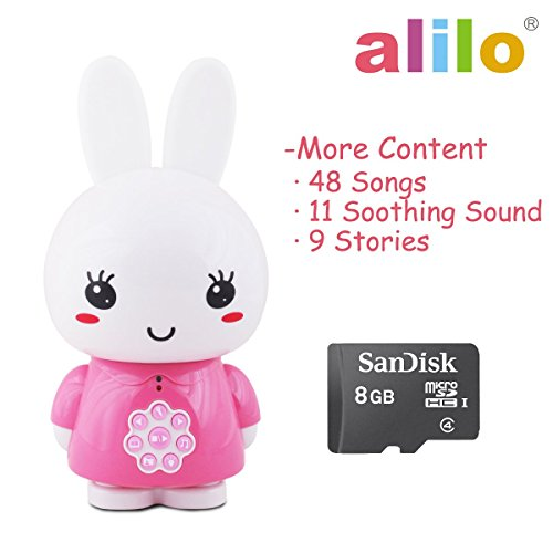 Pink Honey Bunny MP3 Player for Baby Sound Machine Learning Toys