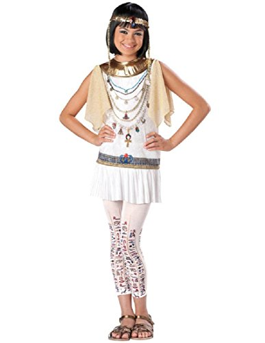 InCharacter Costumes Girl's Cleo Cutie Cleopatra Costume, White/Gold, Large]()