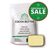 Homemade Face Moisturizer Jojoba - Cocoa Butter 8oz,Unrefined, Raw, 100% Pure, Natural - For DIY Recipes, Body Butters, Soap Making, Lotion, Shampoo, Lip Balm By White Naturals