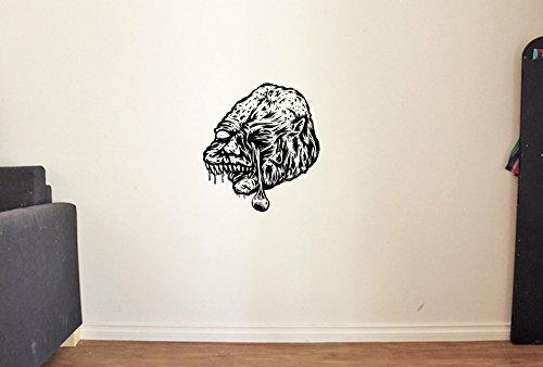 Scary Monster Horror Vinyl Wall Decals Halloween Decor Stickers Vinyl Mural -