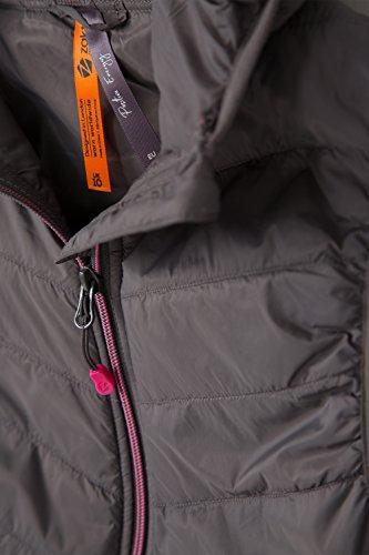 Vitality Im - Grau Weste Camping Für Frühling Mit Damenweste 2 Gepolsterte Warehouse Reisen Mountain Wasserbeständig Reißverschlusstaschen Kapuze