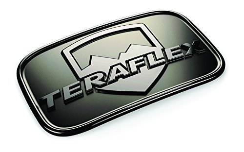 Teraflex 4798000 Black Chrome JK License Plate Delete Badge ()