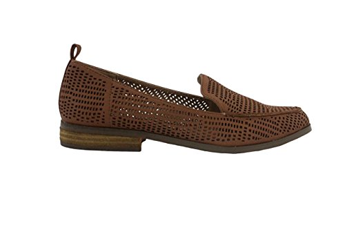 London Rebell Womens Konstläder Slip-on Loafers, Solbränna, 9 B (m) Oss