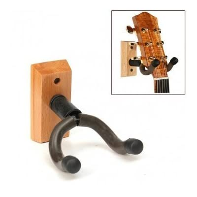 Completestore Wooden Base Guitar Hangers Wall Mount Hooks Stand Holder Musical Instrument: Toys & Games