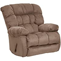 Catnapper Teddy Bear Oversized Chaise Swivel Recliner in Saddle