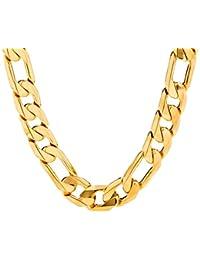Figaro Chain 11MM, 24K Gold Over Semi-Precious Metals,...