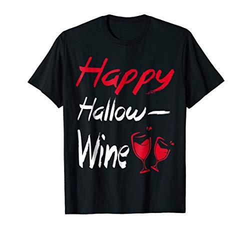 Happy hallow-wine Halloween glitter t-shirt, Wine Tshirt Gif