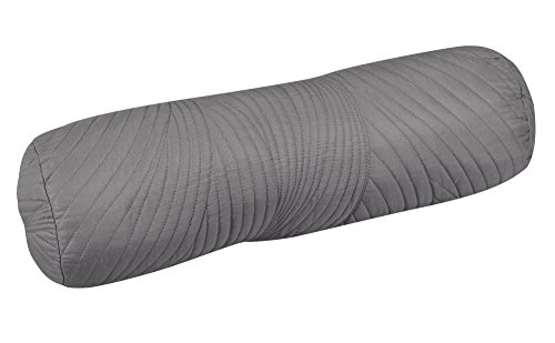 Brielle Stream Bolster Pillow, 6'x18', Grey