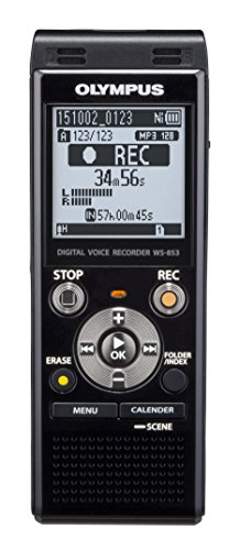 Olympus Voice Recorder WS-853, Black (Voice Recorder Speech To Text)