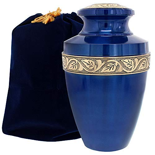 Serenity Large Blue Beautiful Adult Urn