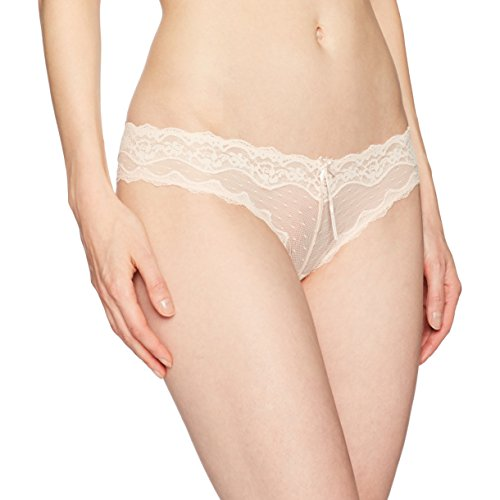 Heidi Klum Intimates Women's Mesh With Lace Cheeky Pant, Silver Peony, L
