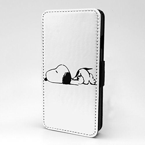 Snoopy Cartoon Flip Bedruckt Telefon Flip Case Cover Für Apple iPhone 6 Plus - 6S plus - Snoopy Sleeping - S-T838