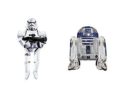 Star Wars Storm Trooper and R2D2 Air Walkers Balloons Set (2 Pieces)