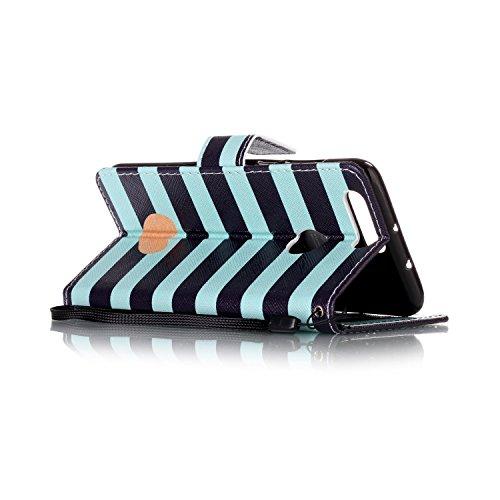 Para Honor 8móvil, piel sintética de alta calidad de móvil con cierre magnético Flip Cover Funda Piel [Tarjetero] funda piel cartera Executive Diseño (+ Polvo Conector & # xff09; blanco 9 2