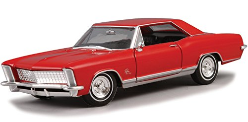- New 1:24 W/B WELLY COLLECTION - Red 1965 Buick Riviera Gran Sport Diecast Model Car By Welly