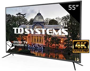 Televisores Led 55 Pulgadas Ultra HD 4K Smart TD Systems K55DLM8US. Resolución 3840 x 2160, 3X HDMI, VGA, USB, Smart TV.: Amazon.es: Electrónica