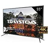 Televisores Led 55 Pulgadas Ultra HD 4K Smart TD Systems K55DLM8US. Resolución 3840 x 2160, 3X HDMI, VGA, USB, Smart TV.