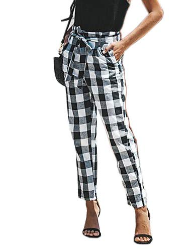 Red Yfltz Donna Pantaloni Da Going Chino Plaid Slim check a48wUrqa6