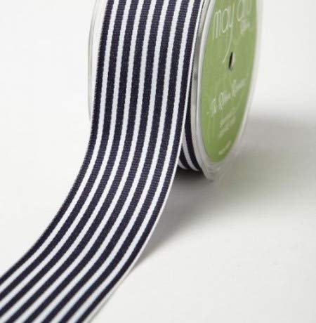 May Arts 38mm Striped Grosgrain sold by Bertie/'s Bows and sold by the metre