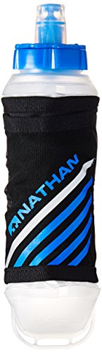 Nathan ExoShot Handheld Flask, Black/Blue, One Size