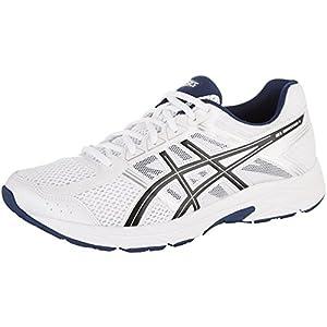 ASICS Men's Gel-Contend 4 Running Shoe, White/Black/Insignia Blue, 12 Medium US